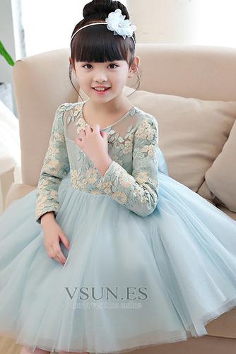 Vestido niña ceremonia Apliques Camiseta Joya primavera tul Natural - Página 4