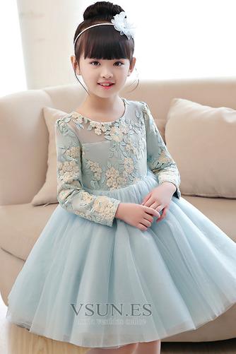 Vestido niña ceremonia Apliques Camiseta Joya primavera tul Natural - Página 3