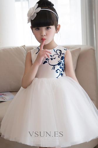 Vestido niña ceremonia Bordado Sin mangas Corte-A Hasta la Rodilla Natural - Página 3