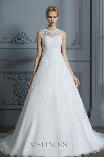 Vestido de novia Joya Encaje Falta Sala Corte-A Natural - Página 3