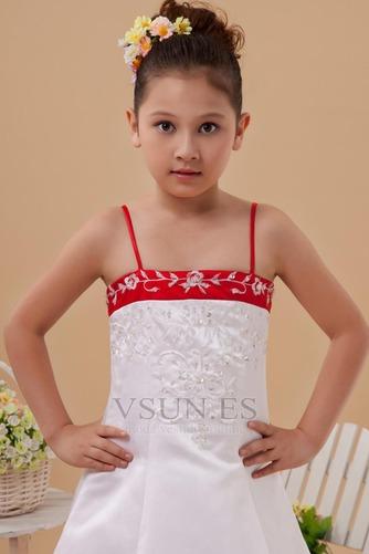 Vestido niña ceremonia Natural Marfil 14 Años de edad Sin mangas Corte-A Satén Elástico - Página 5