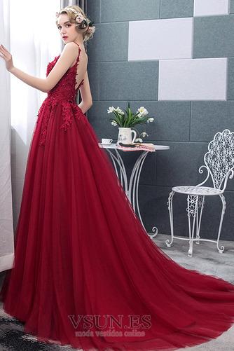 Vestido de novia Natural tul Capa Multi Espalda Descubierta Otoño Corte-A - Página 4