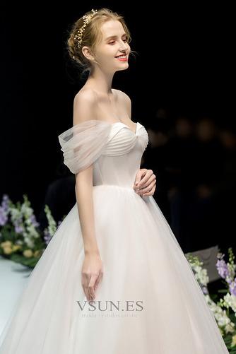 Vestido de novia Fuera de casa Drapeado Corte-A Hasta el suelo Sin mangas - Página 3