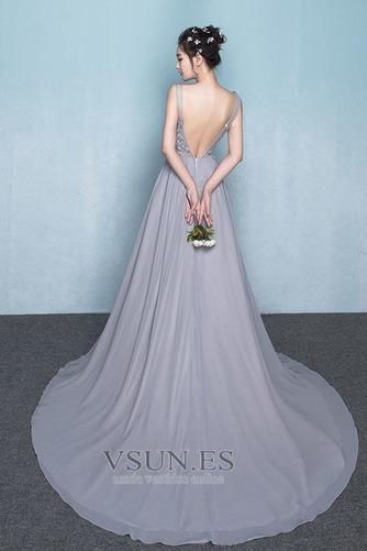 Vestido de dama de honor Encaje Natural Corte-A Falta primavera Elegante - Página 2