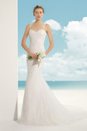 Vestido de novia Corte Sirena Escote de Tirantes Espaguetis largo Encaje - Página 1