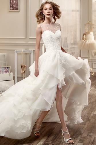 Vestido de novia Playa Asimètrico Espalda medio descubierto primavera - Página 3