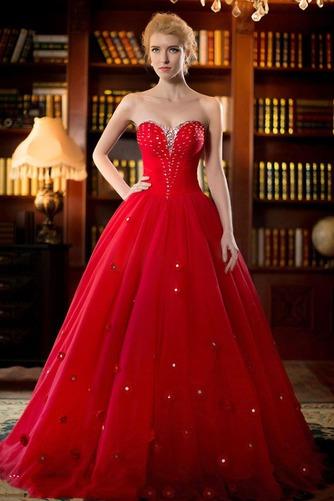 Vestido de novia primavera Natural tul Cremallera Escote Corazón Corte-A - Página 1