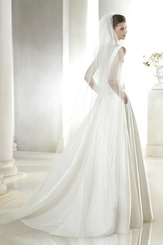 Vestido de novia Con velo Corte-A Cola Capilla Espalda medio descubierto - Página 2