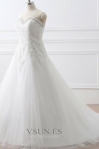 Vestido de novia Corte-A tul Cola Catedral Rectángulo Sin mangas Formal - Página 2