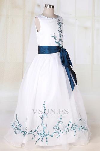 Vestido niña ceremonia Blanco Organza Romántico Corte princesa Arco Acentuado - Página 2