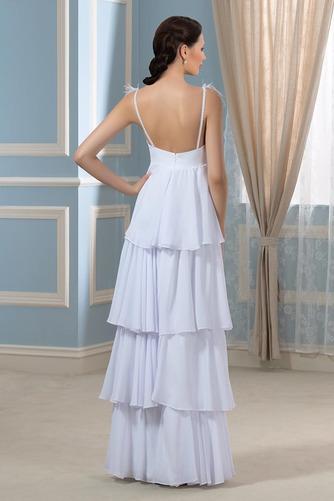 Vestido de novia Embarazadas Sin mangas Cola Barriba Escote en V Playa - Página 3
