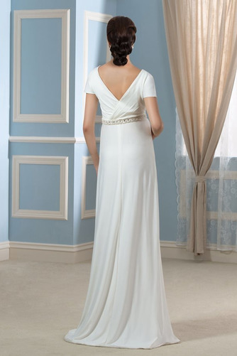 Vestido de novia Embarazadas Cola Barriba Imperio Cintura Espalda Descubierta - Página 2