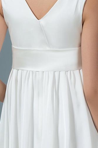 Vestido de novia Arco Acentuado Verano Gasa Drapeado Blusa plisada Hasta la Rodilla - Página 5