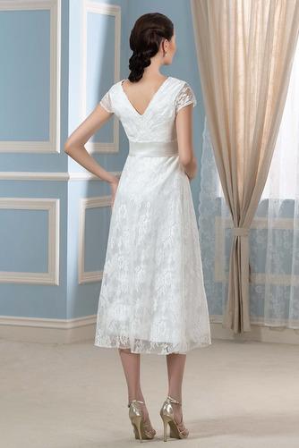 Vestido de novia Elegante Mangas Illusion Tallas grandes Imperio primavera - Página 3