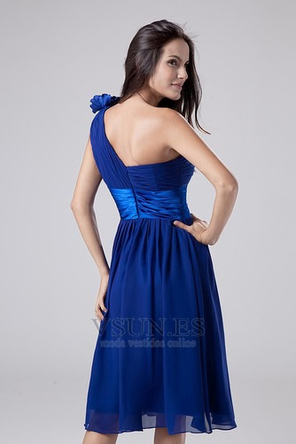 Vestido de dama de honor Sin mangas Verano zafiro Triángulo Invertido Blusa plisada - Página 6