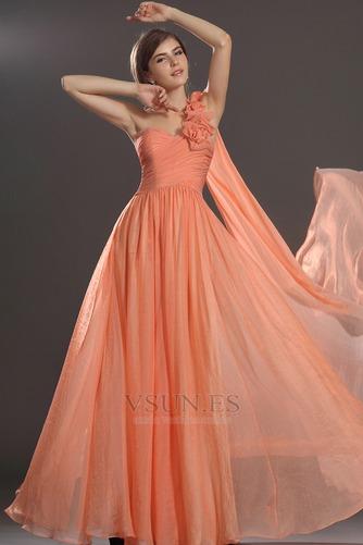 Vestido de noche Elegante Cremallera Gasa Hasta el suelo Flores Blusa plisada - Página 4