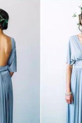 Vestido de dama de honor Blusa plisada Verano Sencillo Espalda Descubierta Triángulo Invertido - Página 8