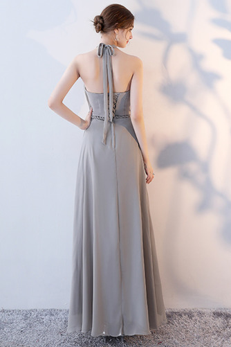 Vestido de dama de honor Natural Corte-A Blusa plisada Escote en V Sin mangas - Página 8