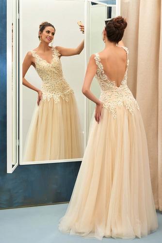 Vestido de noche Elegante Corte-A Natural Hasta el suelo Espalda Descubierta - Página 1