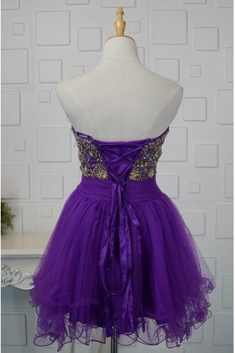 Vestido de cóctel Corte-A vendimia Escote Corazón Cristal Natural Falta - Página 2