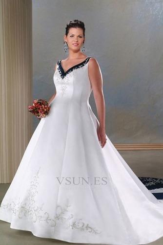 Vestido de novia Tallas grandes Espalda medio descubierto primavera - Página 1