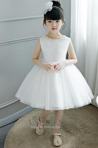 Vestido niña ceremonia Corte-A Abalorio Arco Acentuado Cremallera Verano tul - Página 6