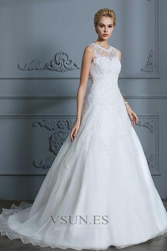 Vestido de novia Joya Encaje Falta Sala Corte-A Natural - Página 1
