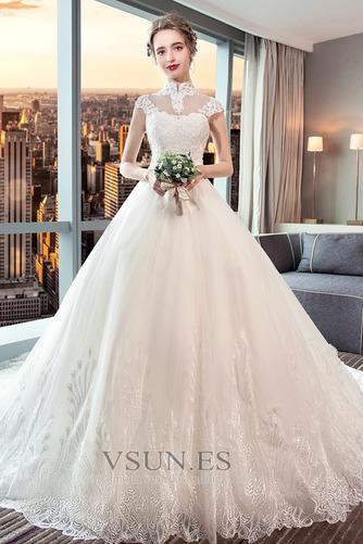 Vestido de novia Encaje Corte-A Natural largo Satén Formal - Página 1