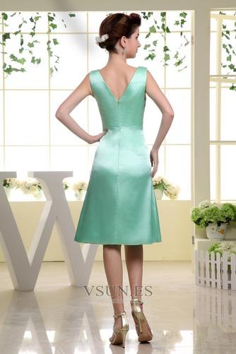 Vestido de dama de honor Corte-A Hasta la Rodilla Natural Satén Espalda medio descubierto - Página 2