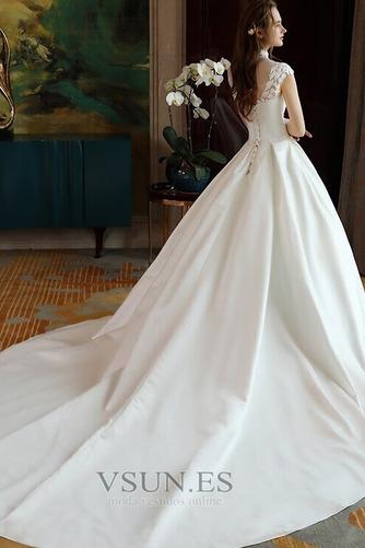 Vestido de novia Capa de encaje Encaje Apliques Escote con cuello Alto - Página 7