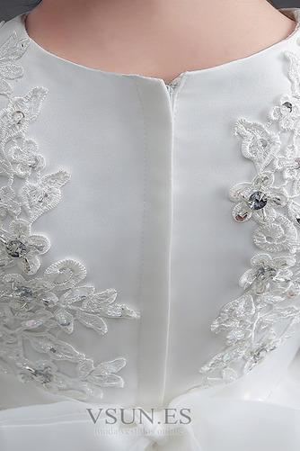 Vestido niña ceremonia Cremallera Joya Satén Arco Acentuado Bordado Formal - Página 5