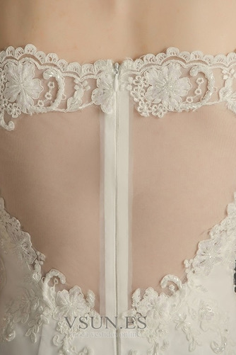 Vestido de novia Elegante Cremallera Escote con abertura Natural Encaje - Página 4