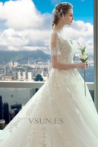 Vestido de novia Espectaculares Manga corta Corte-A Espalda Descubierta - Página 5