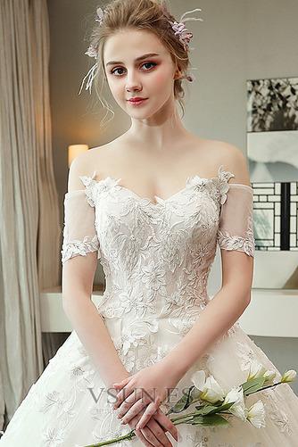 Vestido de novia Espectaculares Manga corta Corte-A Espalda Descubierta - Página 4
