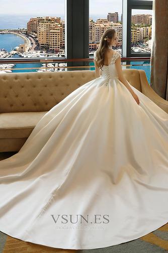 Vestido de novia Capa de encaje Encaje Apliques Escote con cuello Alto - Página 2