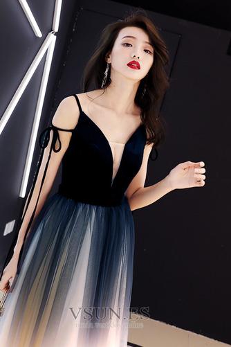 Vestido de fiesta Elegante Corte-A Natural Espalda Descubierta Escote en V - Página 5