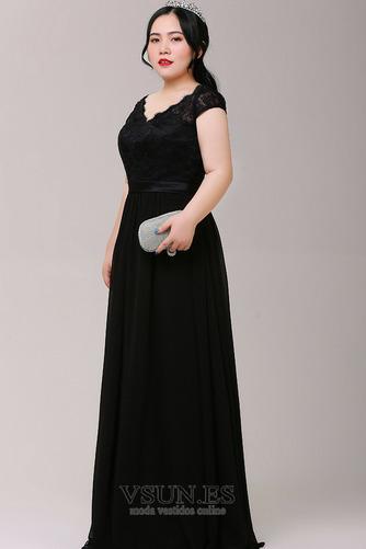 Vestido de fiesta Elegante Cordón Escote en V Capa de encaje Manzana - Página 3