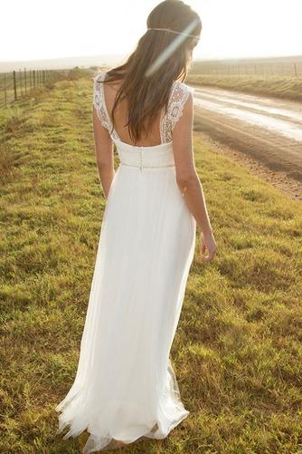 Vestido de novia Corte-A Apliques largo Natural Verano Playa - Página 2