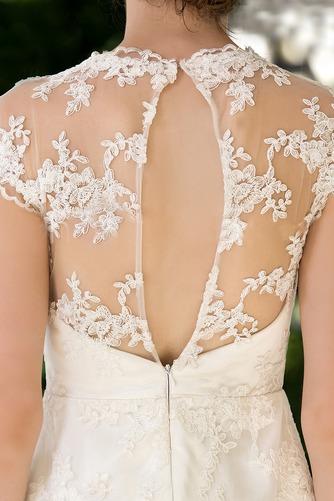 Vestido de novia Clasicos Espalda con ojo de cerradura Joya Apliques - Página 4