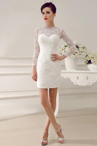 Vestido de novia Clasicos Otoño Asimètrico Cristal largo Cremallera - Página 4