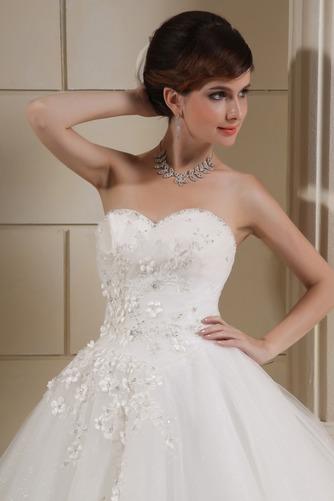 Vestido de novia Corte princesa Escote Corazón Elegante Cordón Apliques - Página 3