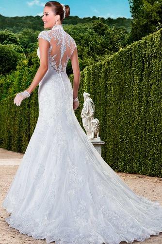 Vestido de novia Cola Capilla Cremallera Natural Encaje Apliques Queen Anne - Página 2