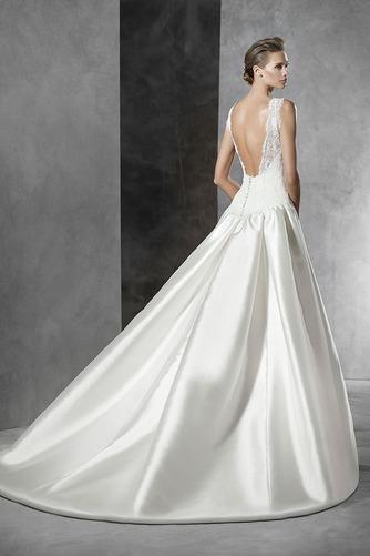 Vestido de novia Corte-A Sin mangas Natural Joya Sala Formal - Página 2