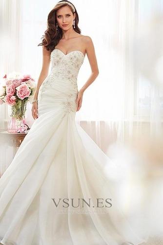 Vestido de novia Corte Sirena Cordón largo Apliques Sin mangas Moderno - Página 1