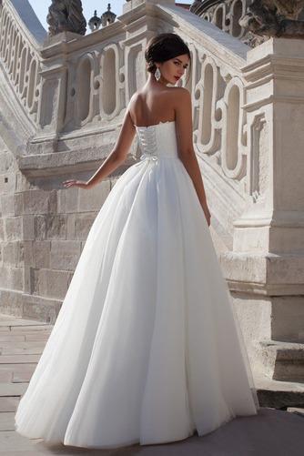 Vestido de novia Elegante Sin mangas Apliques Corte-A Natural Escote Corazón - Página 2