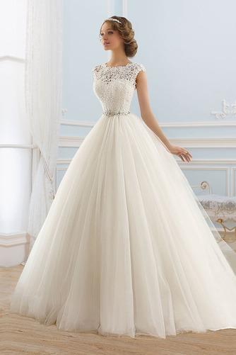 Vestido de novia Formal Cremallera Cristal Cinturón de cuentas Encaje - Página 1