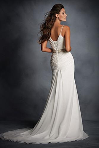 Vestido de novia Sin mangas Espalda medio descubierto Cinturón de cuentas - Página 2
