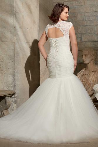 Vestido de novia Formal Espalda con ojo de cerradura Con Chaqueta Dobladillos - Página 2
