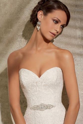Vestido de novia Apliques Otoño Escote Corazón Encaje Sala Moderno - Página 3