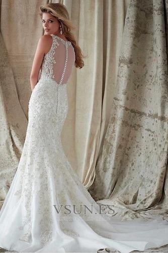 Vestidos de novia estilo vintage Encaje Espalda con ojo de cerradura Iglesia - Página 2